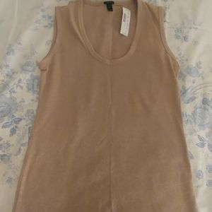 J.crew gold with shimmer top
